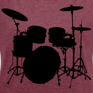 Drums - Women's T-shirt with rolled up sleeves