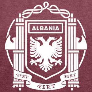 Flag of the Kingdom of Albania 39-43 - Women's T-shirt with rolled up sleeves