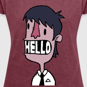 HELLO - Women's T-shirt with rolled up sleeves