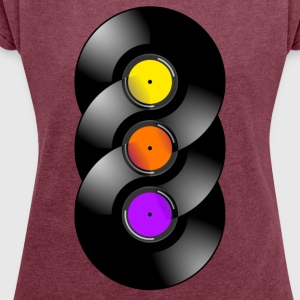 vinyl Chakra - Women's T-shirt with rolled up sleeves