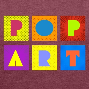Pop art - Women's T-shirt with rolled up sleeves