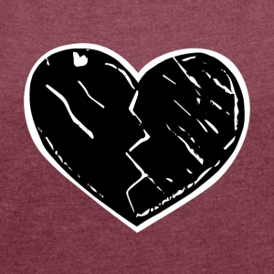 heartbreak - Women's T-shirt with rolled up sleeves