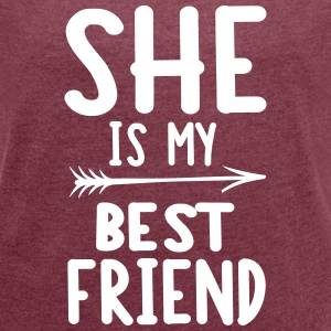 She is my best friend - left