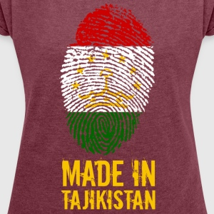 Made In Tadsjikistan / Tadsjikistan / Тоҷикистон - Dame T-shirt med rulleærmer