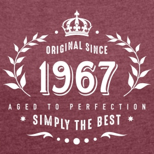 original since 1967 simply the best 50th birthday - Frauen T-Shirt mit gerollten Ärmeln