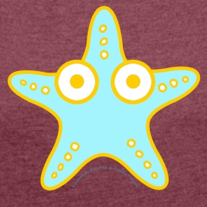 LAGON STAR by Sofi Fish and Johnny French - Women's T-shirt with rolled up sleeves