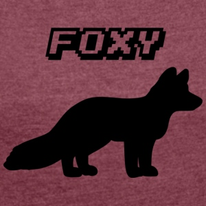 foxy - Women's T-shirt with rolled up sleeves