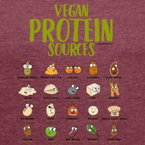 Vegan Protein Sources - Women's T-shirt with rolled up sleeves