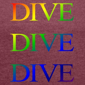 divedivedivebali - Women's T-shirt with rolled up sleeves