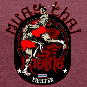 Muay Thai Fighter - T-shirt med upprullade ärmar dam