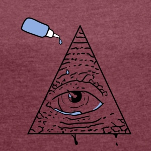 All Seeing Eye - Women's T-shirt with rolled up sleeves