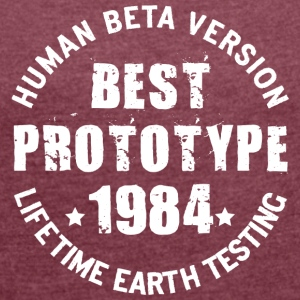 1984 - The year of birth of legendary prototypes - Women's T-shirt with rolled up sleeves