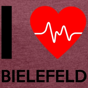 I Love Bielefeld - I Love Bielefeld - Women's T-shirt with rolled up sleeves