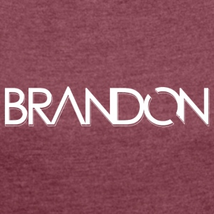 DJ BRANDON - Women's T-shirt with rolled up sleeves