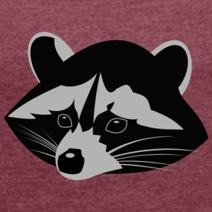 Racoon - Women's T-shirt with rolled up sleeves
