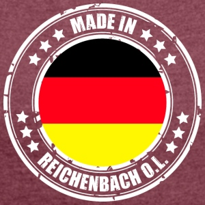 REICHENBACH OL - Women's T-shirt with rolled up sleeves