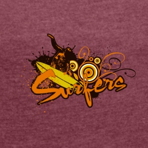 surfers 01 - Women's T-shirt with rolled up sleeves