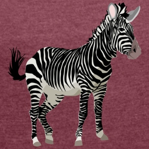 Zebra - Women's T-shirt with rolled up sleeves
