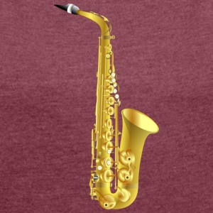 golden saxophone - Women's T-shirt with rolled up sleeves