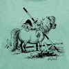 Thelwell 'Hard-bitten Pony' - Women's T-shirt with rolled up sleeves