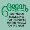 Vegan - Compassion, Nonviolence, For The People... - Women's T-shirt with rolled up sleeves