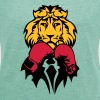 lion boxer glove boxing - Women's T-shirt with rolled up sleeves