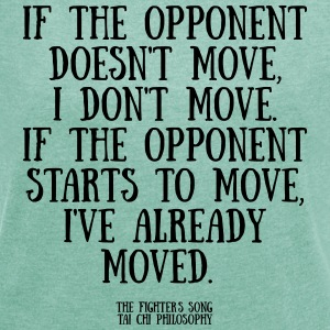 If the opponent doesnt move - T-shirt med upprullade ärmar dam