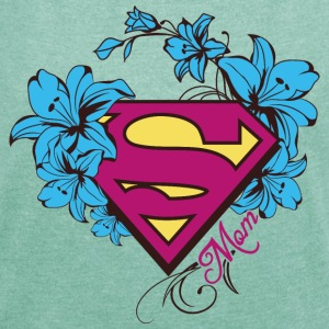 Superman Super Mom Flowers Pink