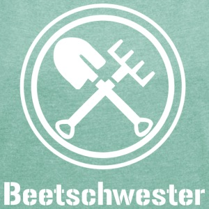 beetschwester - Women's T-shirt with rolled up sleeves
