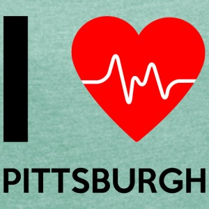 I Love Pittsburgh - I love Pittsburgh - Women's T-shirt with rolled up sleeves