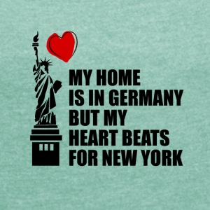 My Home is in Germany - Women's T-shirt with rolled up sleeves