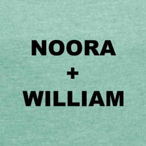 Noora och William - T-shirt med upprullade ärmar dam