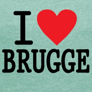 I Love Brugge RH - Women's T-shirt with rolled up sleeves