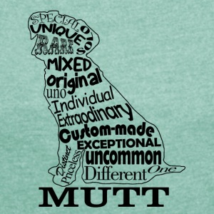 Mutt - Women's T-shirt with rolled up sleeves