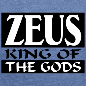 Zeus _-_ King_Of_The_Gods - Camiseta con manga enrollada mujer