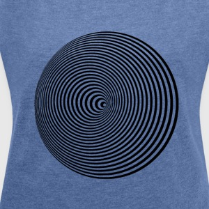 hypnotic kreise LSD LP optik hipster fancy trend - Frauen T-Shirt mit gerollten Ärmeln