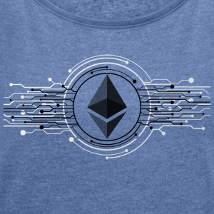 Ethereum Logo - Women's T-shirt with rolled up sleeves