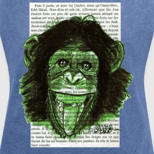 GREEN MONKEY - Women's T-shirt with rolled up sleeves