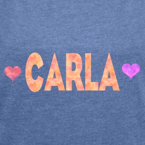 Carla - Women's T-shirt with rolled up sleeves