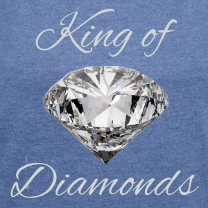 King of Diamonds - T-shirt med upprullade ärmar dam