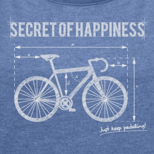 Secret of Happiness - Dame T-shirt med rulleærmer