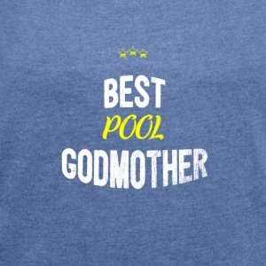 Look - BEST POOL gudmor - T-skjorte med rulleermer for kvinner