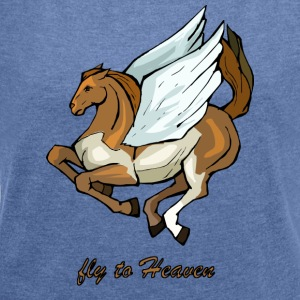 Pegasus - Women's T-shirt with rolled up sleeves