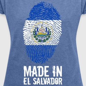 Made In El Salvador - T-shirt med upprullade ärmar dam