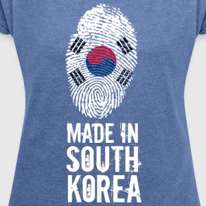 Made In South Korea / South Korea / 대한민국, 大韓民國 - Women's T-shirt with rolled up sleeves