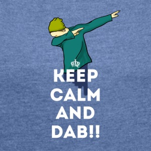 dab keep dabbing touchdown fun cool LOL football - Frauen T-Shirt mit gerollten Ärmeln