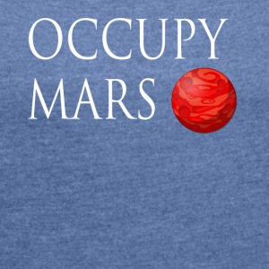 Occupy March Space - Dame T-shirt med rulleærmer