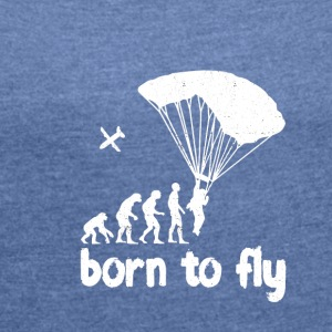 evolution Skydiving - Dame T-shirt med rulleærmer
