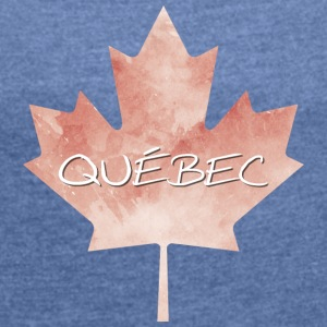 Maple Leaf Québec - T-skjorte med rulleermer for kvinner