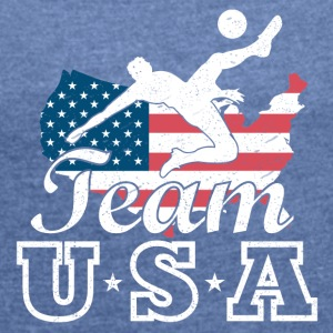 Team USA Soccer - Women's T-shirt with rolled up sleeves